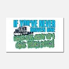 Trucker Back Off Car Magnet 20 x 12
