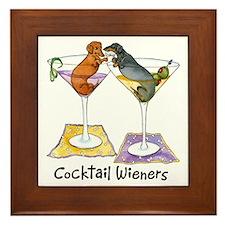 Double Cocktail Wiener Framed Tile