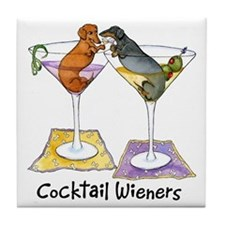 Double Cocktail Wiener Tile Coaster