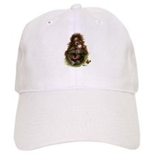 Orangutan Baby and Butterfly Baseball Cap