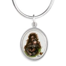 Orangutan Baby And Butterfly Necklaces