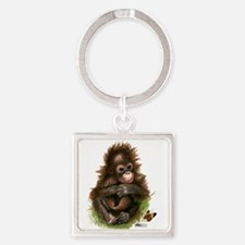 Orangutan Baby And Butterfly Keychains