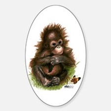 Orangutan Baby And Butterfly Decal
