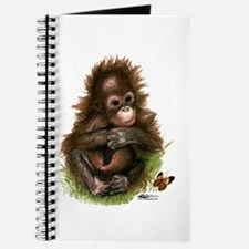 Orangutan Baby And Butterfly Journal