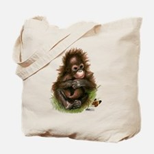 Orangutan Baby and Butterfly Tote Bag