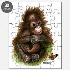 Orangutan Baby And Butterfly Puzzle