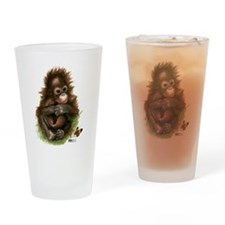 Orangutan Baby and Butterfly Drinking Glass