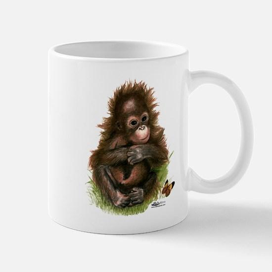 Orangutan Baby and Butterfly Mugs