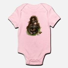 Orangutan Baby And Butterfly Body Suit