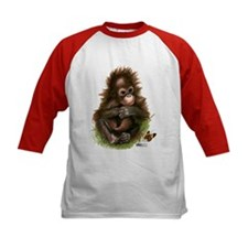 Orangutan Baby And Butterfly Baseball Jersey