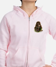 Orangutan Baby And Butterfly Zip Hoodie