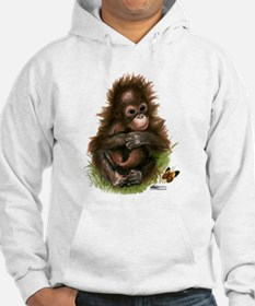 Orangutan Baby And Butterfly Hoodie