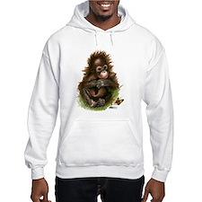 Orangutan Baby And Butterfly Hoodie Sweatshirt
