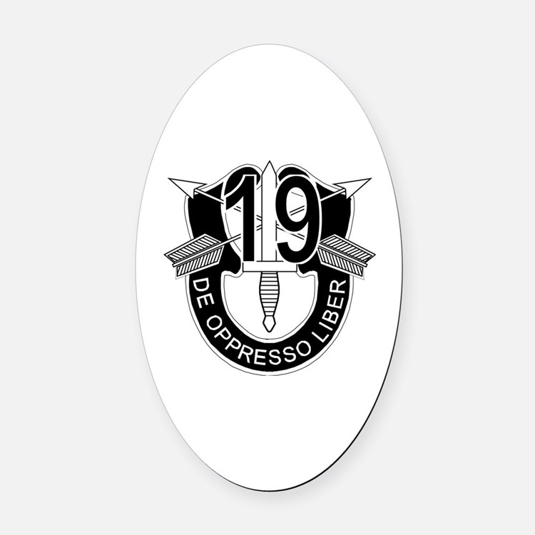 Cute Special operations veteran Oval Car Magnet
