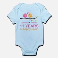 11th Anniversary Personalized Infant Bodysuit