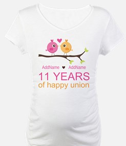 11th Anniversary Personalized Shirt