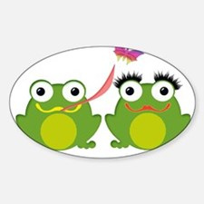 Froggy Couple Sharing a Bug Decal