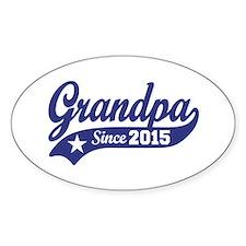 Grandpa Since 2015 Decal
