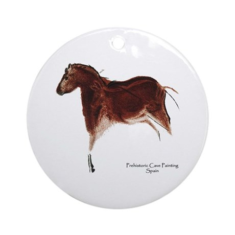 Horse Cave Painting Ornament (Round)