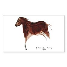 Horse Cave Painting Rectangle Decal