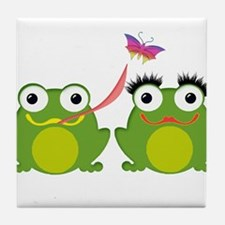 Funny Amphibians and reptiles Tile Coaster