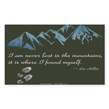 Never Lost in Mountains Decal