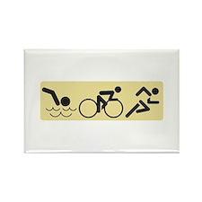 Swim Bike Run Magnets