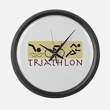 Triathlon Large Wall Clock