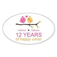 12th Wedding Anniversary Decal