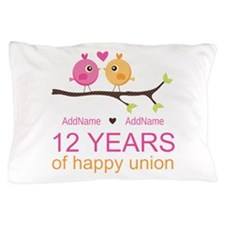 12th Wedding Anniversary Pillow Case