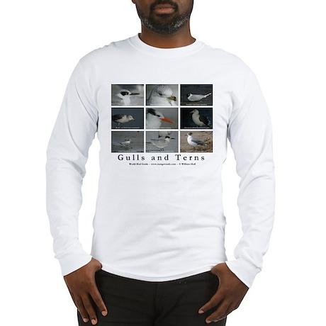 Gulls and Terns Long Sleeve T-Shirt (white)