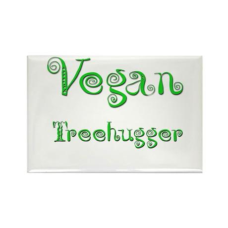 Vegan 4 Rectangle Magnet (100 pack)