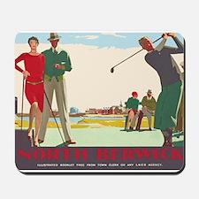North Berwick, Golf, Vintage Poster Mousepad
