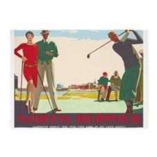 North Berwick, Golf, Vintage Poster 5'x7'Area Rug