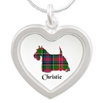 Terrier - Christie Silver Heart Necklace