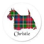 Terrier - Christie Round Car Magnet