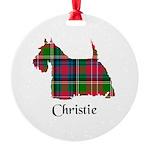 Terrier - Christie Round Ornament