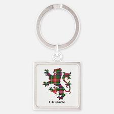 Lion - Christie Square Keychain
