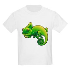 Green Chameleon with Purple Eyes T-Shirt