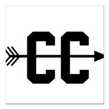"""Cross Country CC Square Car Magnet 3"""" x 3"""""""