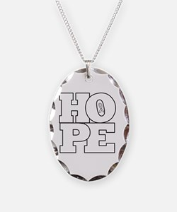 Hope with awareness ribbon. Necklace