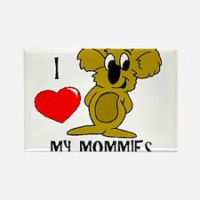 I love my Mommies Koala Rectangle Magnet