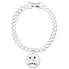 Sad Unhappy Snowman Face Bracelet