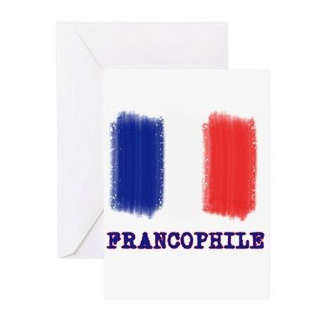 Francophile French Flag Greeting Cards (Package of