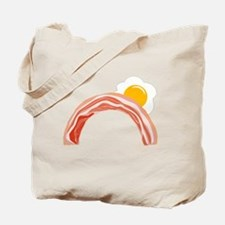 Bacon and Eggs Rainbow Tote Bag