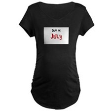Due In July Dark Maternity T-Shirt