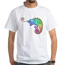 Rainbow Chameleon with Gold Tongue T-Shirt