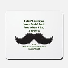 Mustache Saying Mousepad
