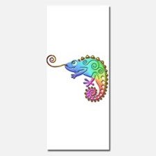 Rainbow Chameleon with Gold Tongue Invitations