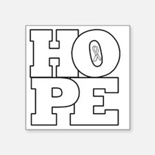 "Hope Hollow Ribbon Square Sticker 3"" x 3"""